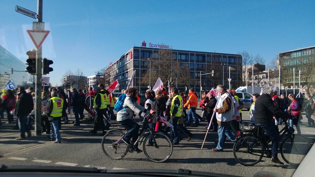 Митинг на улицах Ганновера