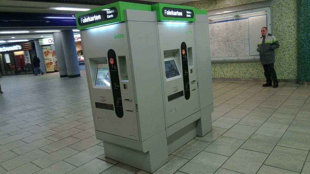 Автомат по продаже билетов в метро Ганновера